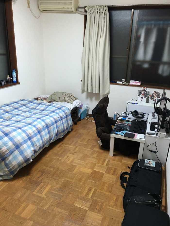 いすゞ'藤沢工場の期間工の寮の部屋